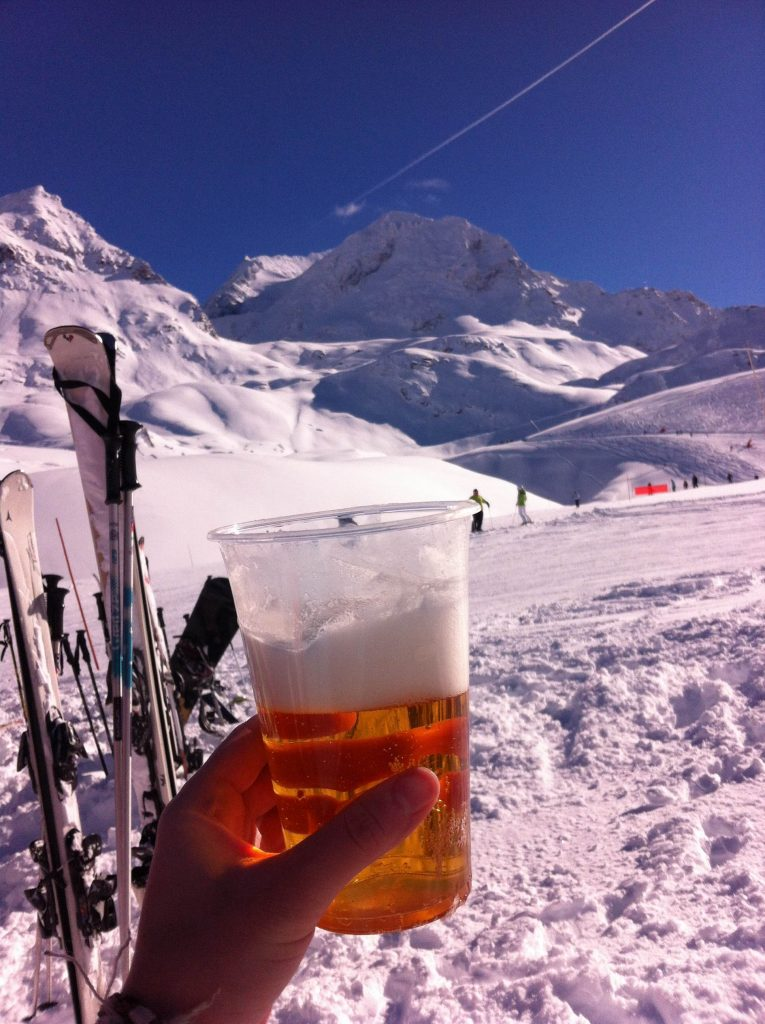 Alternatively, avoid skiing completely and just drink