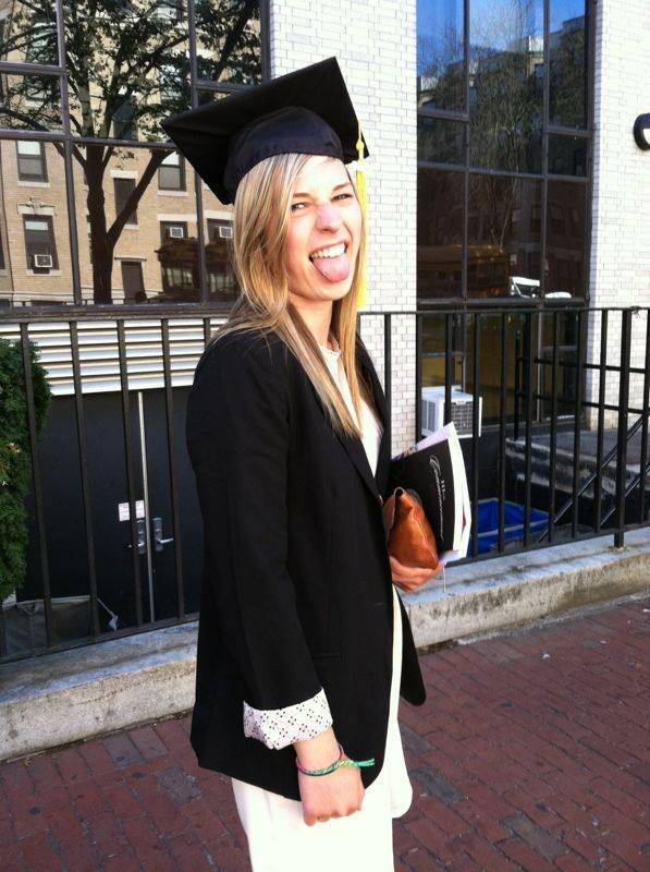 If I wear his graduation mortarboard, I've basically graduated from an American university, right?