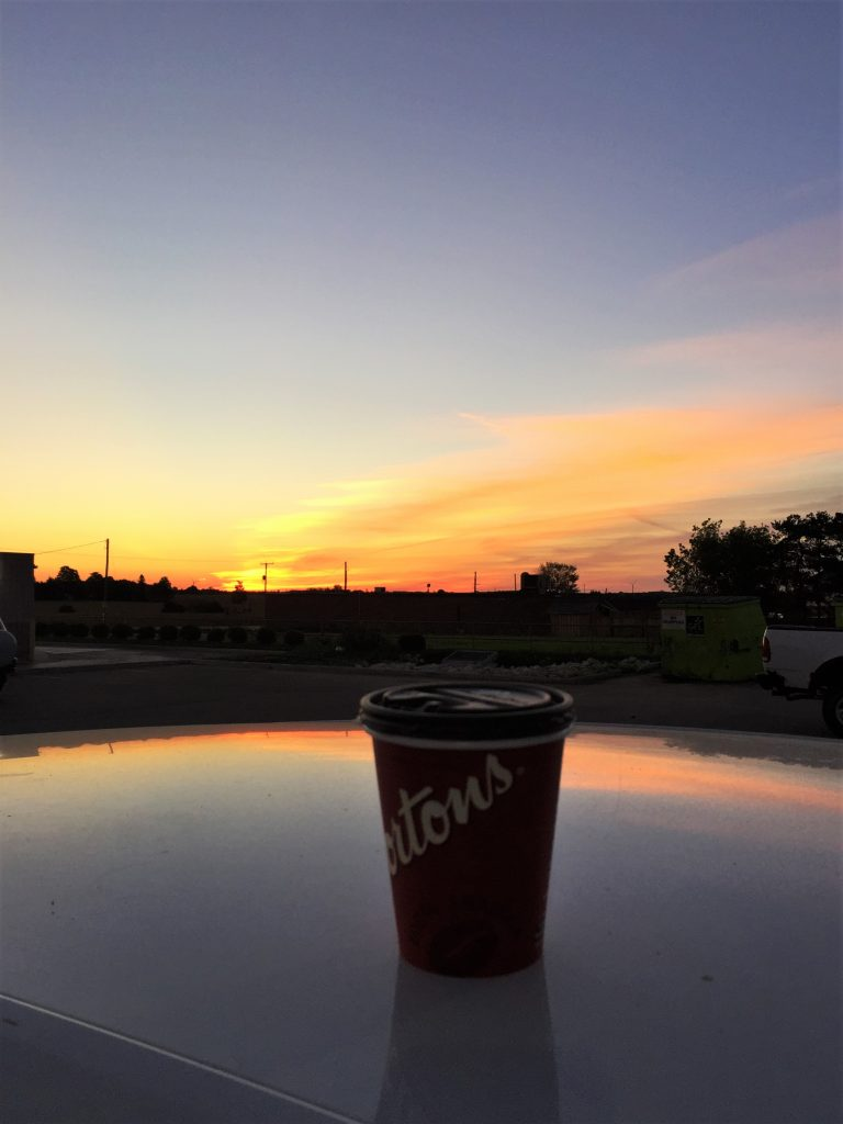 Setting out early with Tim Horton's