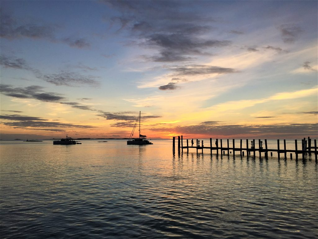 Sunset-dock-the-Bahamas